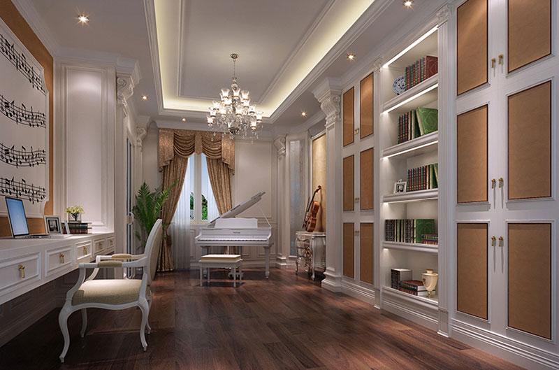 别墅装饰设计效果图-钢琴室