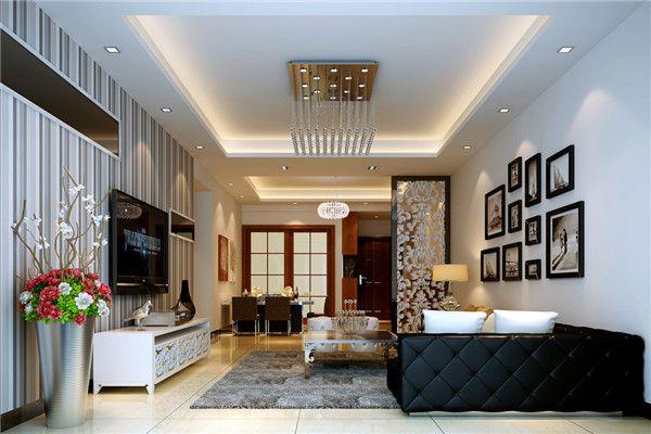 颜色可以是百色或者现代流行色系,空间设计师还会为欧式空间墙面选择