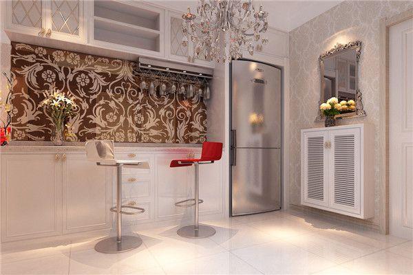 在暖色調風格的家庭設計吧臺,顏色上可能會比較單調,但是在這樣風格下